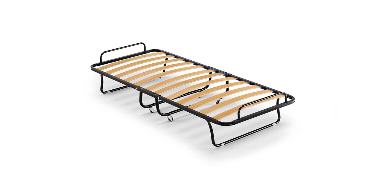 Rete pieghevole per letto singolo, Rete con doghe in legno | Seven